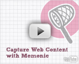 View the Memonic video tutorial