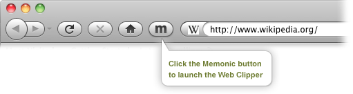 Launching the Memonic Web Clipper